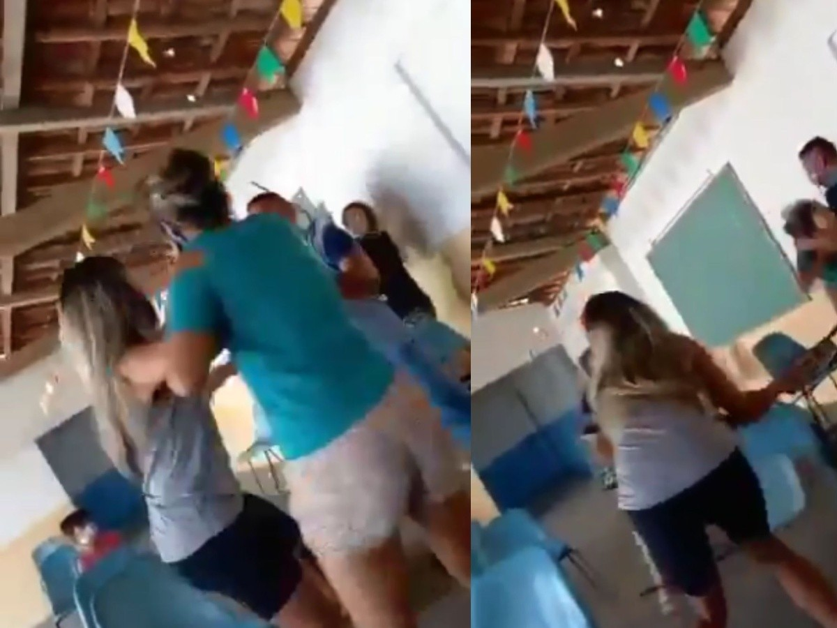 VIDEO: Hombre se vacuna acompañado de su amante y se encuentra a su esposa  | En el Radar